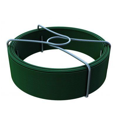 Rollo de alambre de atar verde para mallas metálicas