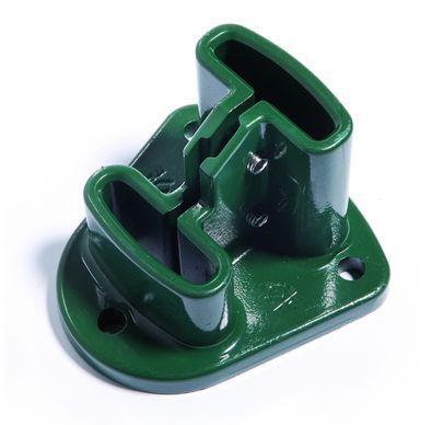 Imagen de una base para poste Profix en color verde