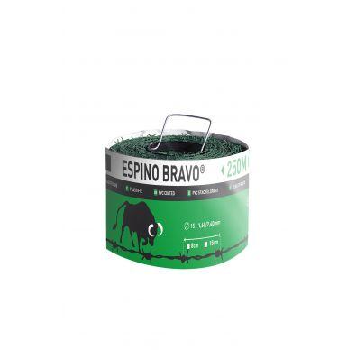 Imagen de un rollo de alambre de espino Bravo verde