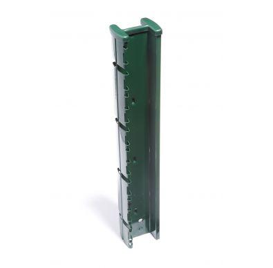 Poste sin accesorios Profix de color verde para cerramientos metálicos