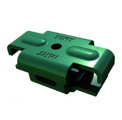 Imagen del accesorio de color verde Quickfix para vallas metálicas