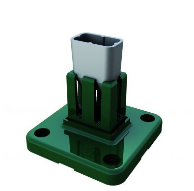 Base de aluminio Hercules de color verde para poste metálico