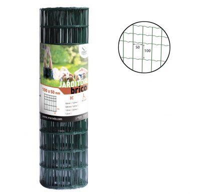Rollo de la malla electrosoldada Jarditor Brico 100x50 verde