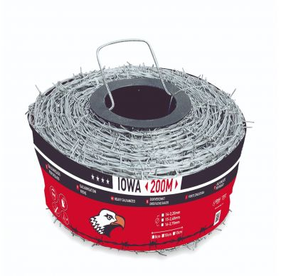 Rollo de un alambre de espino Iowa galvanizado