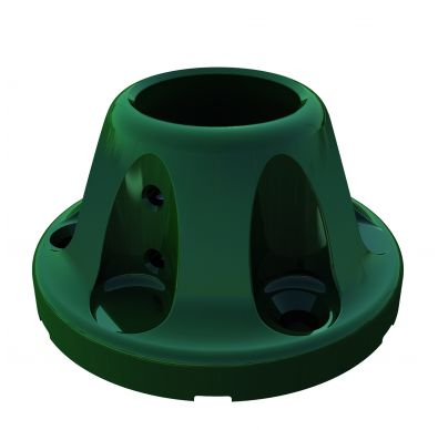Imagen de base para poste Quickfix en color verde