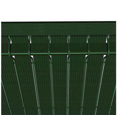 Detalle de las láminas de la ocultación para vallas Hercules, de color verde